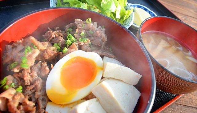 すじ丼定食